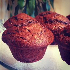 CHOCOLATE MUFFINS It's like dessert for breakfast!  Or, if you really do want to make these muffins into a dessert, up the decadence with a chocolate fudge frosting. Voila. You now have a cupcake. (Which I still recommend you eat for breakfast.)