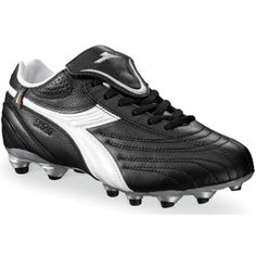 SALE - Diadora Stile 10 LT MG 14 Soccer Cleats Womens Black Leather - Was $64.99 - SAVE $11.00. BUY Now - ONLY $53.99