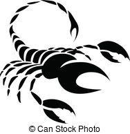 Skorpion, Schwarz, tierkreis, stern, zeichen