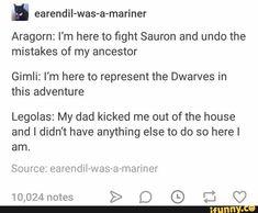 Legolas Funny, Legolas And Aragorn, Thranduil, Book Fandoms, Middle Earth, Lord Of The Rings, Tolkien, The Hobbit, Funny Memes
