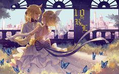 Download wallpapers Kagamine Len, Kagamine Rin, 4k, manga, dance, Vocaloid
