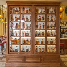 Over 230 Bourbons. Bourbon Bar, Whisky Bar, Scotch Whisky, Wine Display, Display Homes, Whiskey Room, Whiskey Lounge, Alcohol Cabinet, Home Cocktail Bar