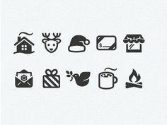 Christmas icon set (love the reindeer) #icon #design #christmas: