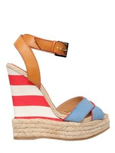 leather flat espadrilles wooden beads - Google Search
