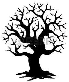 oak tree silhouette graphics a world of beauty pinterest tree rh pinterest com oak tree graphic art live oak tree graphic