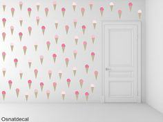 Ice Cream Wall Decal.85 Shades Of Pink by Osnatdecal