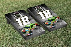Kyle Busch Cornhole Boards with 8 Corn Hole Bags NASCAR #18 Pit Row Version