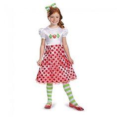 Ponce Girls Strawberry Shortcake Costume Dress Short Cake Toddler Kids