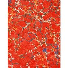 red marbled paper | red marbled paper | Marbling