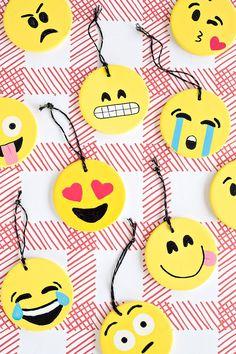 DIY Emoji Ornaments