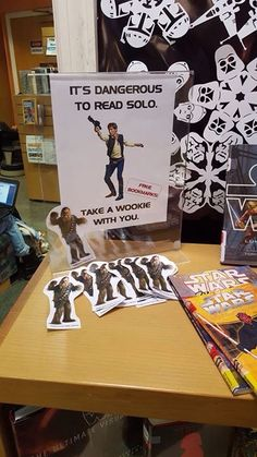 Star Wars display Ridgewood Public Library - Star Wars Cookie - Ideas of Star Wars Cookie - Star Wars display Ridgewood Public Library Middle School Libraries, Elementary Library, Star Wars Classroom, Classroom Themes, Library Book Displays, Library Books, Library Signs, Library Inspiration, Library Ideas