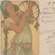 Alphonse Mucha 'Salome' French Postcard 1900 Extremely Rare. from nouveautonow on Ruby Lane