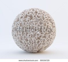Random letters and numbers forming a sphere - stock photo