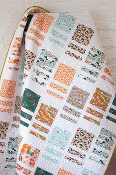 Patchwork Quilt Patterns, Beginner Quilt Patterns, Modern Quilt Patterns, Quilting For Beginners, Modern Quilting Designs, Patchwork Bags, Patchwork Designs, Pattern Ideas, Simple Quilt Pattern