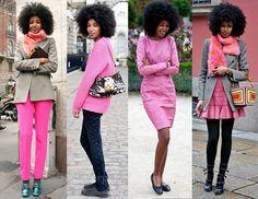 Combine peças rosa com outras de cores neutras para quebrar o ar infantil. | 42 segredos de estilo que fazem toda a diferença no look