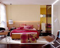 Schlafzimmer im Grandhotel-Look
