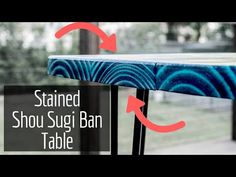 Today I'm going to make a stained shou sugi ban dining table, using real fire! (yakisugi technique ) I used hairpin legs as well! This a very easy modern din. Wood Projects, Woodworking Projects, Projects To Try, Wood Crafts, Diy Wood, Wood Burning Techniques, Diy Pallet Furniture, Painted Furniture, Outdoor Furniture