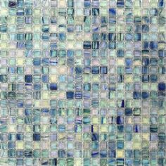 Splashback Tile Breeze Blue Ocean Glass Mosaic Wall Tile - 3 in. x 6 in. Tile Sample