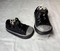 Black Tiara Bling Shoes