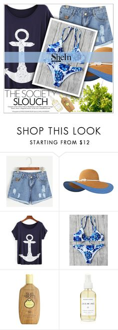 """Shein6"" by adelisa56 ❤ liked on Polyvore featuring Eugenia Kim, Sun Bum, A Weathered Penny and shein"