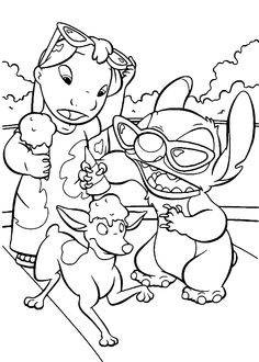lilo and stitch coloring pages free printable painting on the