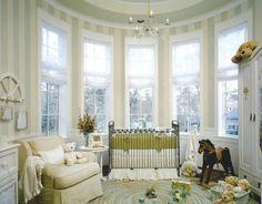 A beautiful nursery in an amazing architectural room! Baby Bedroom, Baby Boy Rooms, Nursery Room, Home Bedroom, Kids Bedroom, Kids Rooms, Teen Rooms, Babies Nursery, Animal Nursery