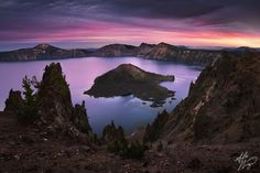 Crater Lake, Oregon   Friday, 21st December 2012    Sorcery    By Alex Noriega    http://www.earthshots.org/2012/12/sorcery-by-alex-noriega/    Wizard Island rises above the surface of an ancient caldera lake, formed when Mount Mazama erupted and collapsed nearly 8,000 years ago.