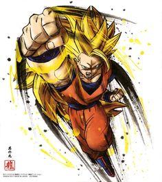 Dragon Ball Shikishi ART 3 Goku SSJ 3