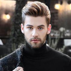 Finding The Best Short Haircuts For Men Beard Styles For Men, Hair And Beard Styles, Curly Hair Styles, Cool Hairstyles For Men, Hairstyles For Round Faces, Hairstyles 2018, Best Short Haircuts, Haircuts For Men, Pompadour Style