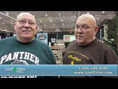 """These two gentlemen both have LeafFilter gutter covers installed on their homes and think its the """"greatest invention since sliced bread"""". Thanks for sharing your story with us!"""