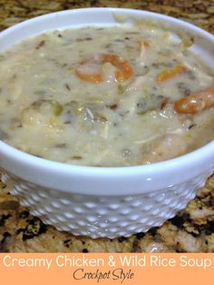 Jam's Corner: creamy chicken & wild rice soup