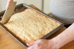 Norwegian Butter Squares- Another pinner said -Just made these, they are awesome.buttery, flakey,melt in your mouth goodness! And easy, too! Norwegian Cuisine, Norwegian Food, Swedish Recipes, Sweet Recipes, Norwegian Recipes, Swedish Foods, Holiday Baking, Christmas Baking, Just Desserts
