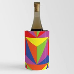 Colorful Triangles Wine Chiller Wine Chillers, Triangles, Colorful, Cool Stuff, Artwork, Crafts, Work Of Art, Manualidades, Auguste Rodin Artwork