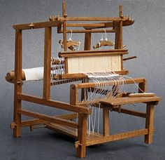 Dollhouse Miniatures : 1:12th scale miniature loom by artisan Jerry Smith  Share, Repin, Comment - Thanks!