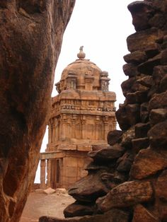 Badami, India. Where history stands still as the Hanuman on the pinnacle