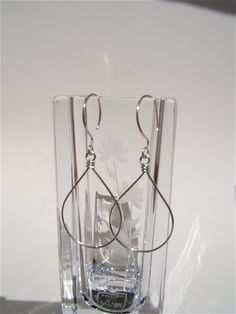 Argentium Silver Pear Shaped Earrings by Danielledunlap on Etsy, $26.00