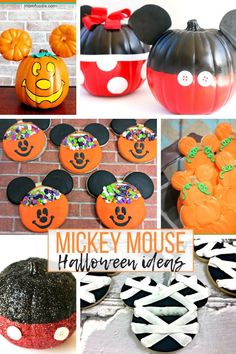 The 20 Best Disney Holiday Ideas for Crafts and Recipes - Celebrate with your favorite Disney characters this holiday season! Here are the best Disney Holiday Craft and Recipe Ideas! Happy Halloween, Mickey Mouse Halloween, Mickey Christmas, Halloween Food For Party, Halloween Activities, Disney Halloween, Halloween Costumes For Kids, Halloween Treats, Halloween Diy