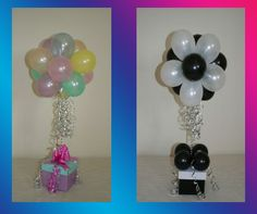 Topiary Balloon Bouquet in gabba colors of course:)