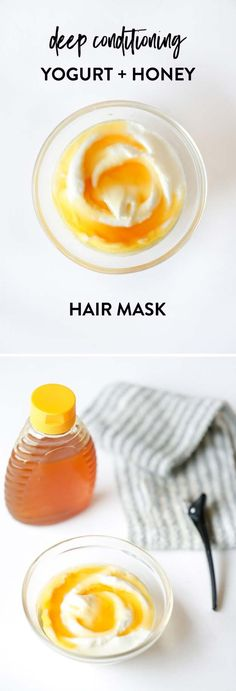 [ Quick And Easy Hairstyles For School : The Best Step By Step Tutorials For Homemade Hair Treatment For Damaged Hair - Deep Conditioning Yogurt + Honey - Hair Treatment At Home, Hair Growth Treatment, Braided Hairstyles Tutorials, Diy Hairstyles, Hairstyle Ideas, Haircuts, Wedding Hairstyles, Homemade Hair Treatments, Natural Treatments
