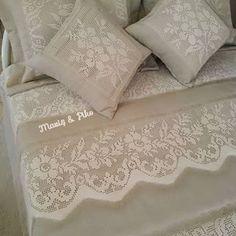 #ceyiz #piko #nakis#keten#yatakörtüsü  #dantel#mavispiko#elemeği #izmir #tasarim #nişanbohcasi #ceyizhazirligi #evtekstil #ceyizlik #vintagehomedecoration #design #handmade #textile #sewing #fabrics #kumaş #hometextile #wedding #instaart #tasarim#crochetlover #kinitting#vintage#altındağ Cute Flower Girl Dresses, Filet Crochet, Bed Sheets, Decorative Pillows, Bed Pillows, Pillow Cases, Crochet Patterns, Quilts, Blanket