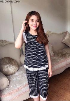 Những mẫu đồ bộ mặc ở nhà dễ thương cho bạn gái Polka Dot Top, Mac, Tops, Women, Fashion, Moda, Fashion Styles, Fashion Illustrations, Poppy