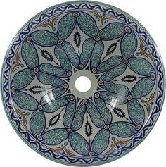Ruqya - Marokkanische Waschbecken aus Keramik, Design Kunst Handbemalt Rustikal Vintage Waschbecken …: Amazon.de: Baumarkt