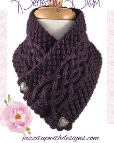 New color!  Irish Celtic Scarf Neck warmer in Perfectly Plum #cpromo
