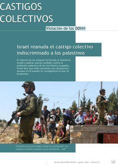 """Israel aplica """"castigo"""" colectivo para los palestinos"""
