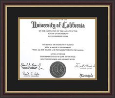 ArtToFrames Mahogany and Gold Slop Diploma Frame with 1  11x14 Opening Diploma72689596006683120YMAH * Want additional info? Click on the image.