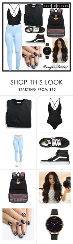 """""""CUTE BUT COMFY"""" by infinitiblx7 ❤ liked on Polyvore featuring Blair, Topshop, Vans, alfa.K and Olivia Burton"""