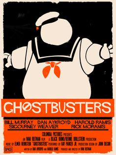 Just a little bit Saul Bass in this Ghostbusters poster