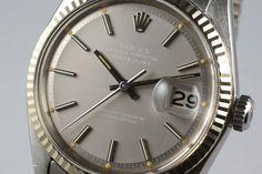 1972 Rolex DateJust 1601 Matte Silver Dial
