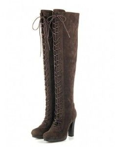 Suede Brown High Heel...