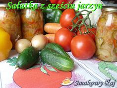 Smakowy Raj - blog kulinarny: Sałatka z sześciu jarzyn do słoja Vegetables, Blog, Vegetable Recipes, Blogging, Veggies